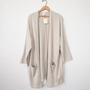 NWT DONNI Ribbed Sweater Coat